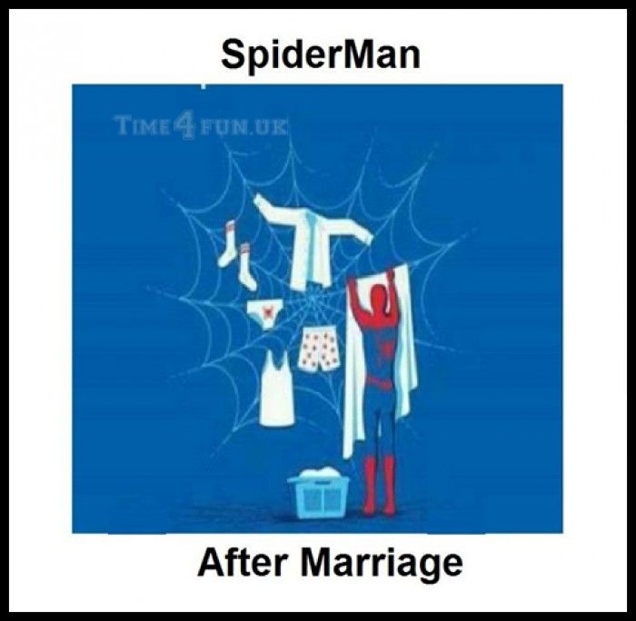 SpiderMan after Marriage - Funny Pictures