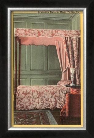 George Washington's Mount Vernon Bedroom, Alexandria, Virginia, USA