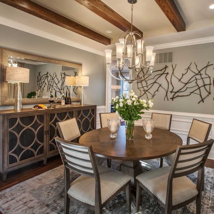 556 best dining rooms neutral colors images on pinterest for Warm neutral paint colors for dining room