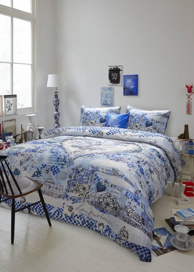 Dekbedovertrek Wilma Veen Enjoy Blauw van Beddinghouse