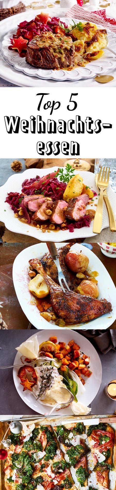 Welches Weihnachtsessen wird's bei dir geben? Ob Gans, Ente oder Steak, hier findest du unsere Top 5 Essen für Weihnachten. #weihnachtsessen #weihnachtsrezepte #hauptspeise #ente #steak #gans