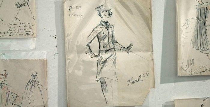 In vendita all'asta i primi bozzetti di Karl #Lagerfeld #moda