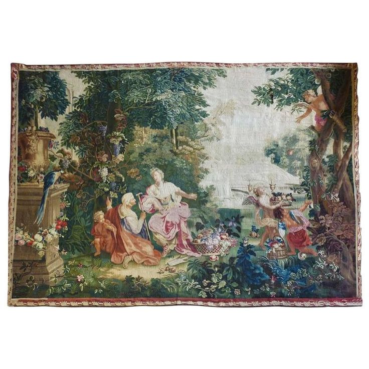 'The Fortune Teller' French Exceptionnal  Beauvais Tapestry, 18th Century | From a unique collection of antique and modern tapestries at https://www.1stdibs.com/furniture/wall-decorations/tapestry/