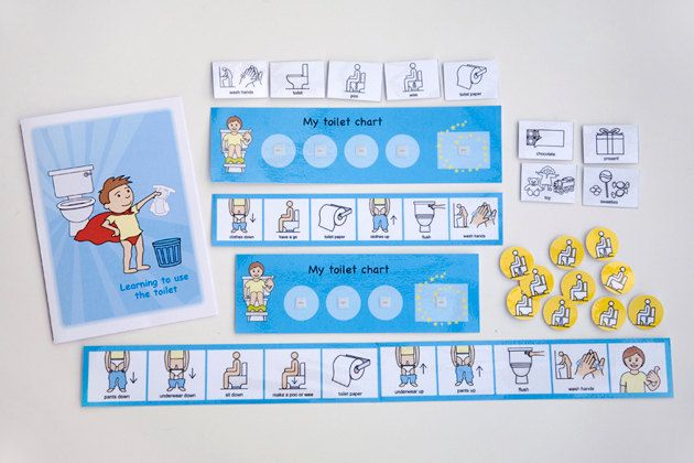 Therapics Toilet training kit - A nice clear set of visuals including a reward chart and social story booklet.