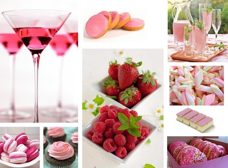 Pink party food drinks perfect victoria 39 s secret party for Party food and drink ideas