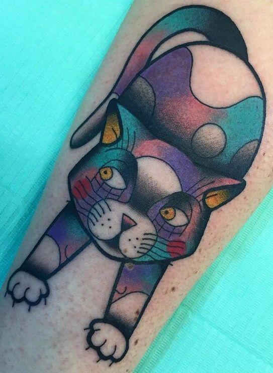 Ylenia Manzoni Vinil cat tattoo