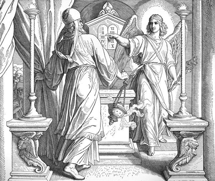 Bilder der Bibel – Zacharias und der Engel Gabriel – Engel erahnen