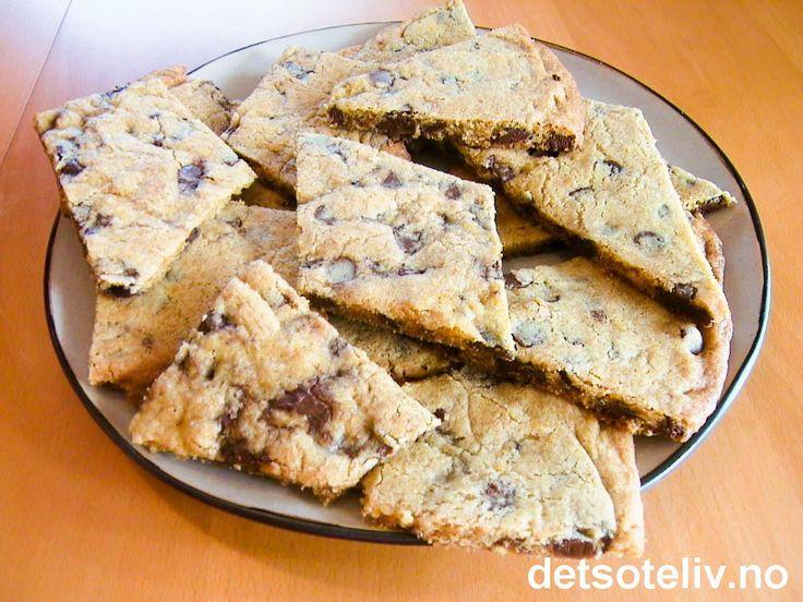 Cookies i langpanne | Det søte liv