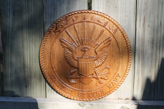 US Navy  Emblem  personalized with name on top by TAWoodandVinyl.com