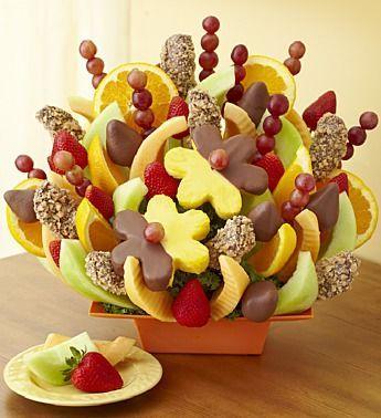 Crea estos divertidos arreglos frutales que satisfacen no sólo el paladar sino también la vista.