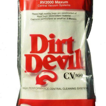 Dirt Devil CV950 CV950LE RV2000 Maxum Central Vac Bags