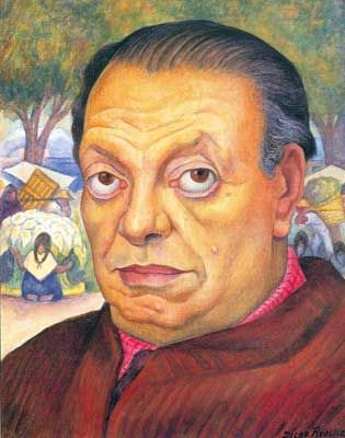 Diego Rivera, Self-Portrait Fine Art Reproduction Oil Painting