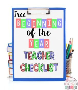This FREE Beginning of the Year Teacher Checklist  is a printable template for you to create your own checklist to stay organized during back to school.
