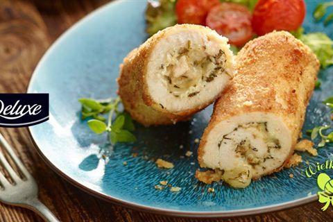 Roladki z kurczaka faszerowane serem pleśniowym