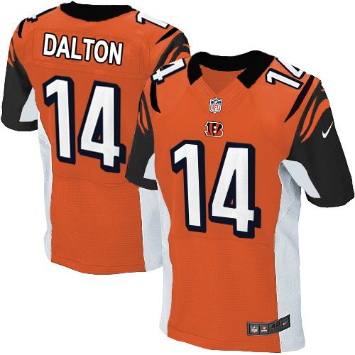 Nike Elite Men's Cincinnati Bengals #14 Andy Dalton Alternate Orange NFL  Jersey$129.99