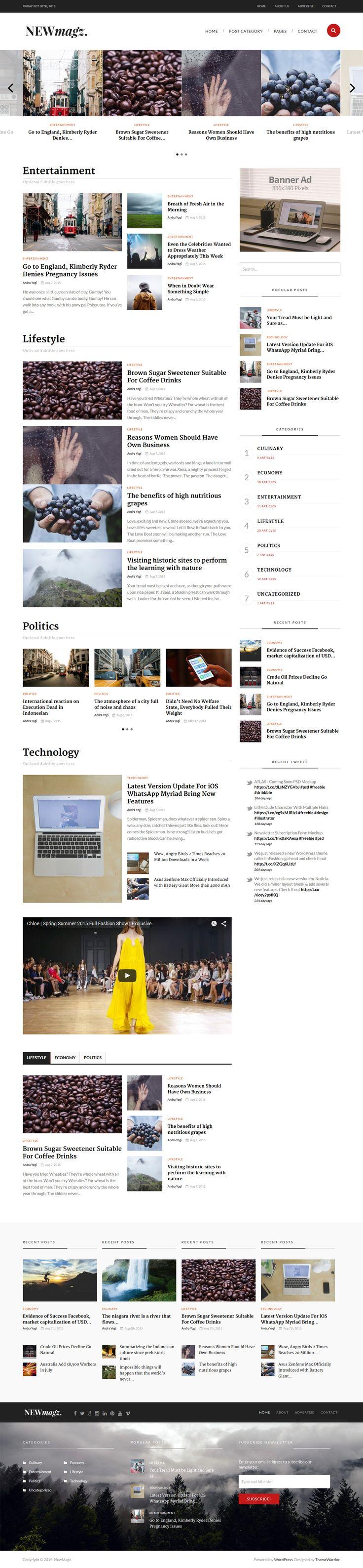 NewMagz - WordPress Magazine Theme #wpress Download: http://themeforest.net/item/newmagz-wordpress-magazine-theme/12845644?ref=ksioks