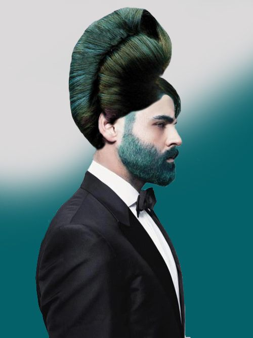 Pin by Blond Bouffant on Men with Updos | Pinterest