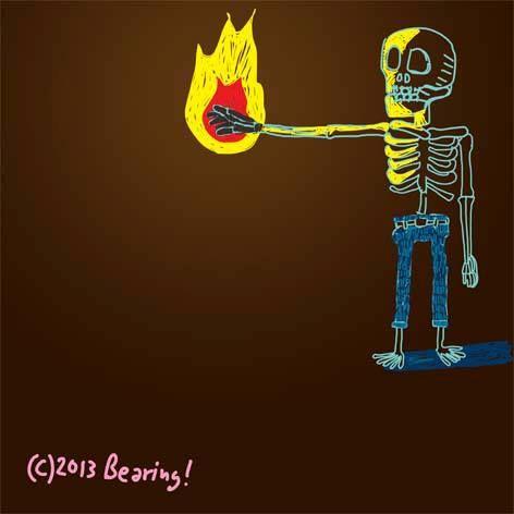 man made fire...