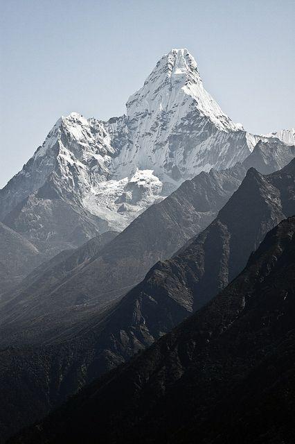 Ama Dablam mountain, in Nepal Himalayas