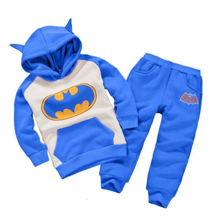 Kids youth children's toddler Batman Sweats and Hoodie 2 Piece set Sweatshirt Cute Super hero