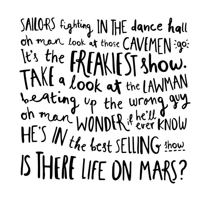 Sailors Fighting In The Dance Hall Is There Life On Mars Lettering Font Typeface Lettering Creative Lettering Life On Mars
