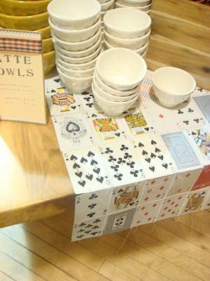 card table runner...great idea for game night decor.  (brought to you by Anthropologie)