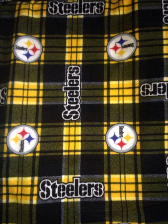 Pittsburgh Steelers Football Double Fleece No Sew Blanket