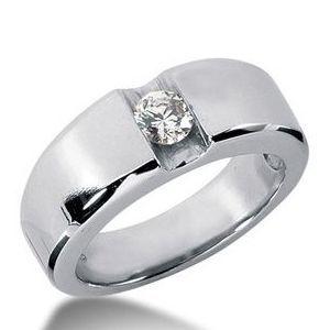0.50 Karat Diamant- Herrenring aus 585er Weißgold für 2290.00 Euro bei www.juwelierhausabt.de
