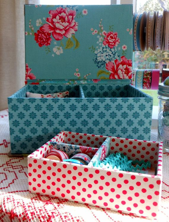 "Cornsant sewing or jewellery box  8.5"" x 6.1"" x 3.4"" (21.5 x 15.5 x 8.5 cm) with lift out tray"