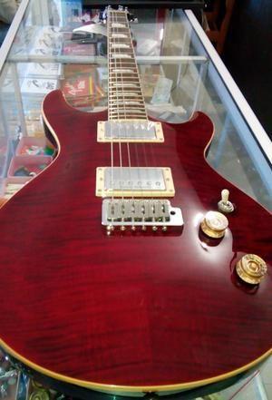 Gitar listrik duncan designed asli merah doreng harimau cantik bgt