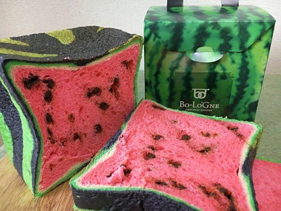 Square Watermelon Bread