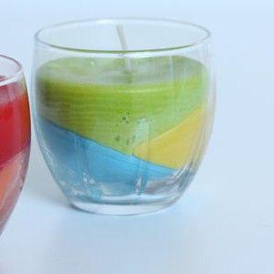Gekleurde kaarsen maken #colorblock #appeltjessap