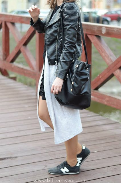new balance nb leather jacket fashion blogger street style