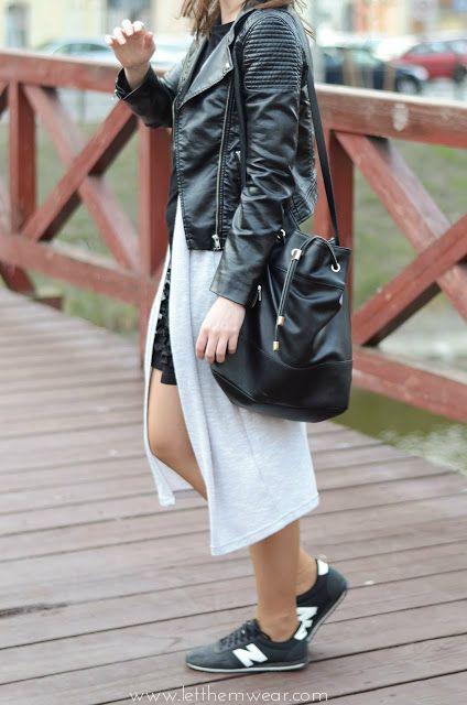 new balance nb leather jacket fashion blogger street style