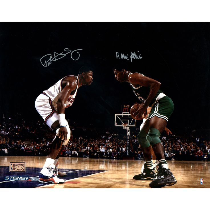 Robert Parish Face Up with Patrick Ewing Dual Signed 16X20 photo
