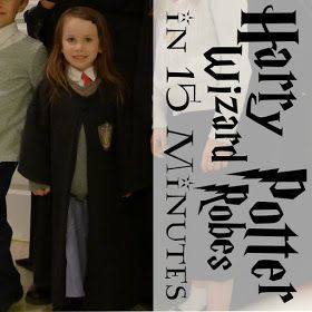 Pieces by Polly: Super Fast and Easy DIY Harry Potter Robe from a T-Shirt in 15 Minutes - DIY Harry Potter Costume