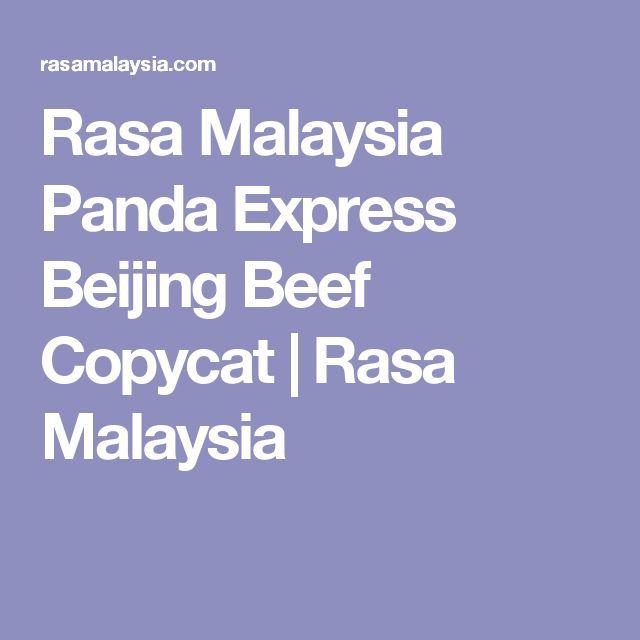 Rasa Malaysia Panda Express Beijing Beef Copycat | Rasa Malaysia