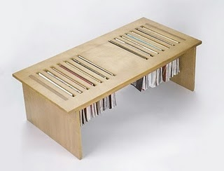 Magazine table.  Cool Idea!
