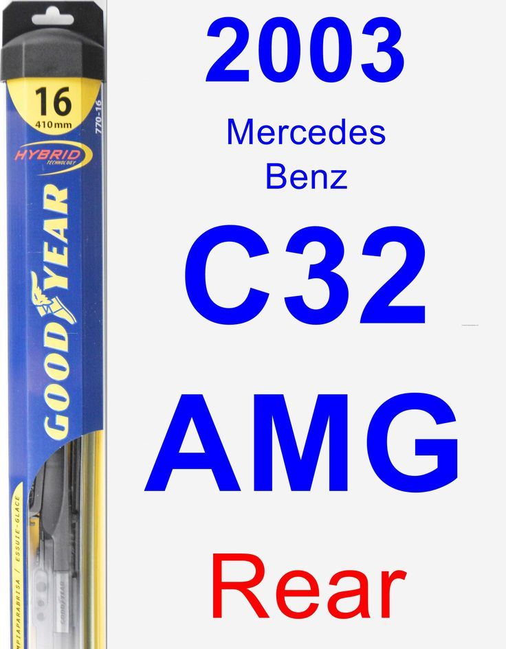 Rear Wiper Blade for 2003 Mercedes-Benz C32 AMG - Hybrid