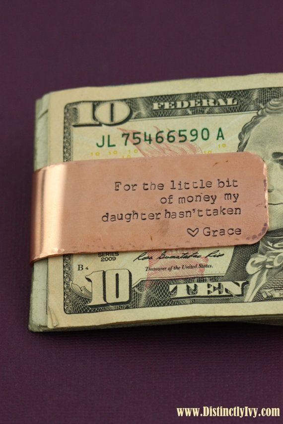 Personalized Money Clip  Gift from Daughter  by DistinctlyIvy