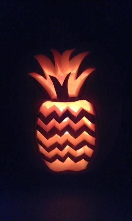 Psych pineapple= coolest pumpkin carving idea ever