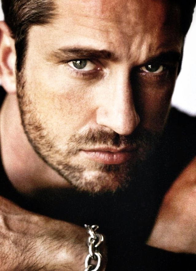 Gerard Butler...his looks coupled with that accent is just madness...