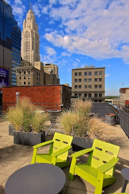 Rooftop Deck in Downtown Columbus, Ohio