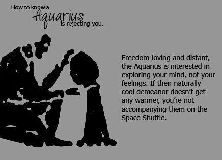 Aquarius rejecting you