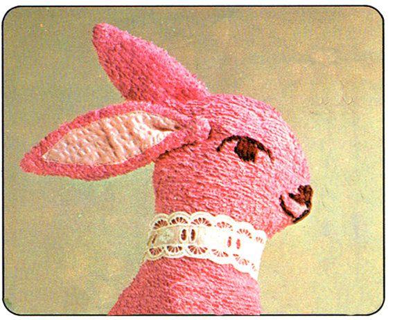 PDF Vintage 1960s Kitsch Baby 'Pink Bunny' by TheAtticofKitsch