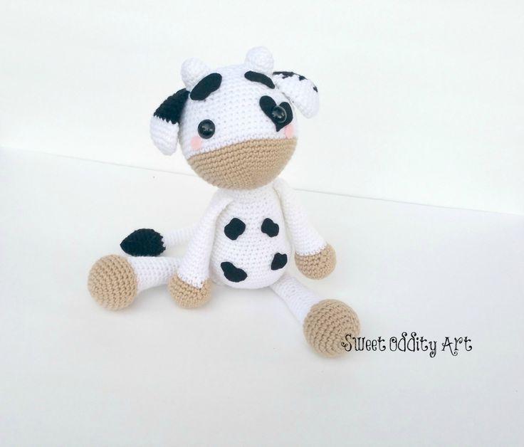 cow crochet pattern crochet cow amigurumi cow by SweetOddityArt