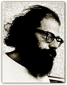 Allen Ginsberg, love this photo. Taken by Larry Keenan