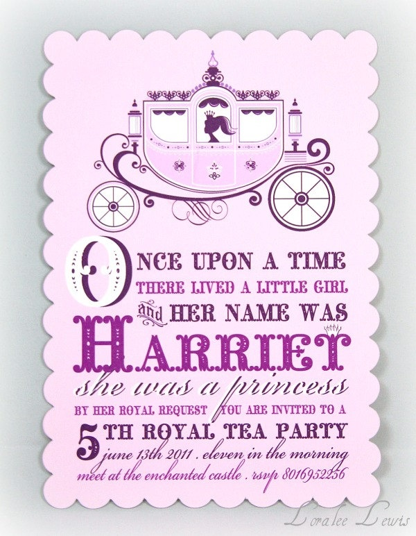 95 best images about INVITATIONS for a Princess Party – Little Girl Tea Party Invitations