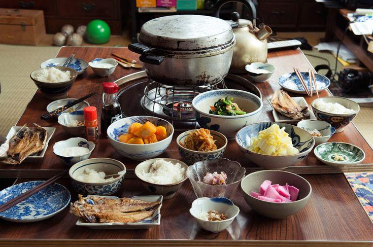 Japanese ordinary breakfast in Yamagata, Japan. / 山形・想耕庵   山形県 上山市