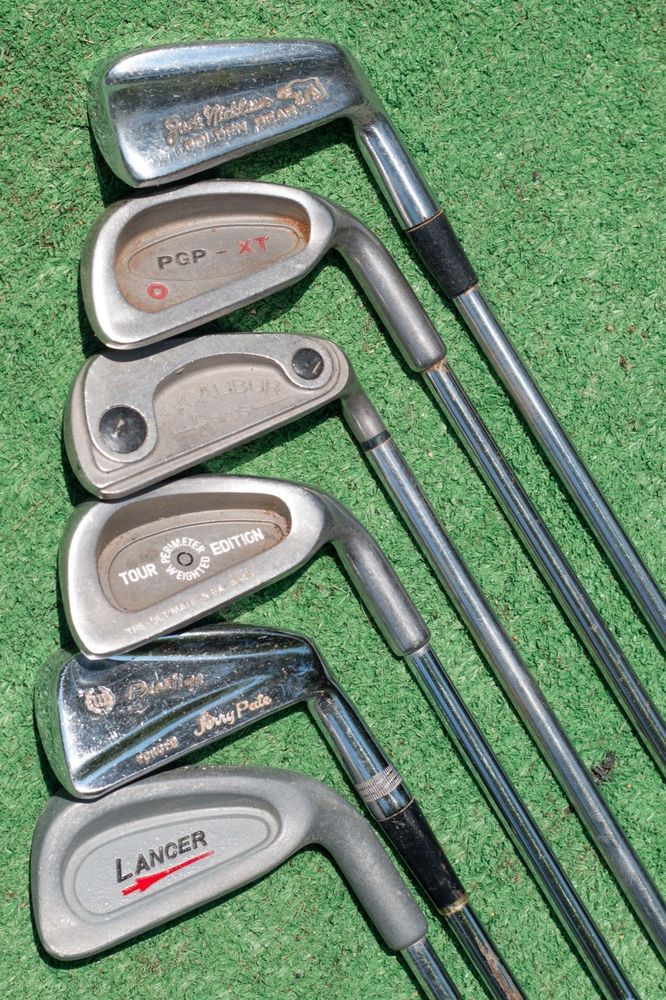 7 iron six-pack iron set, variety of 7 iron golf clubs - used golf iron lot #MultipleBrands